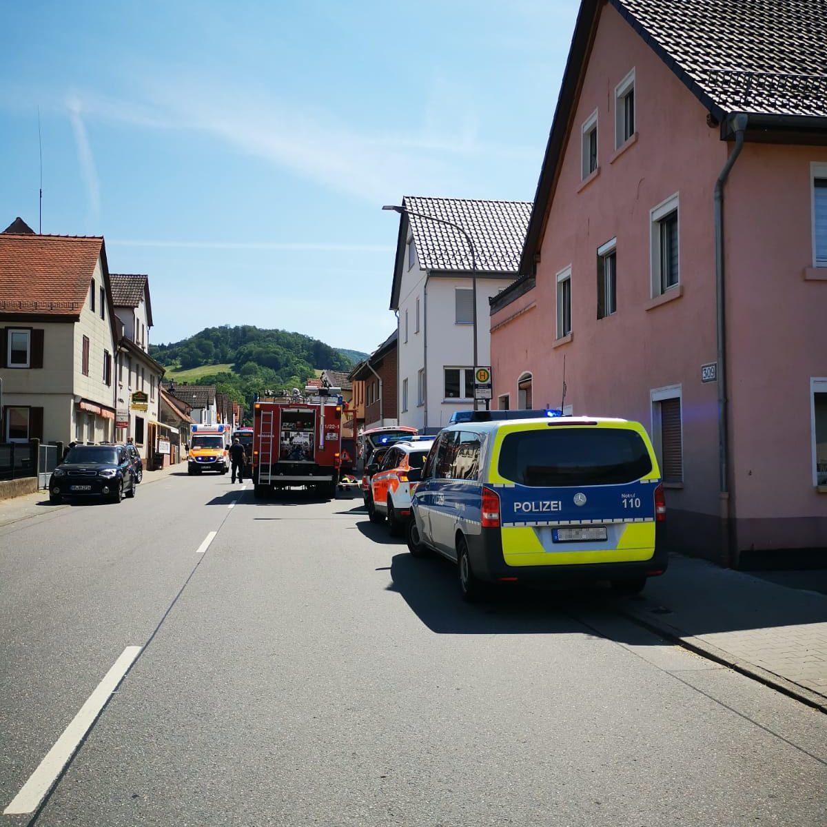 Verkehrsunfall auf der B47 in Reichenbach am 17.07.2021
